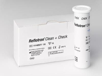 Reflotron® Clean + Check, 15 Test + 16 Clean / Pack.
