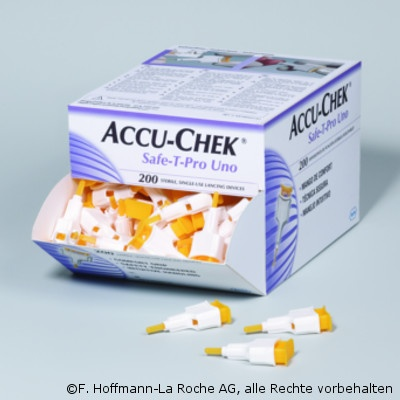 Accu-Chek® Safe-T Pro Uno, 200 St./Pack, Einmalstechhilfe