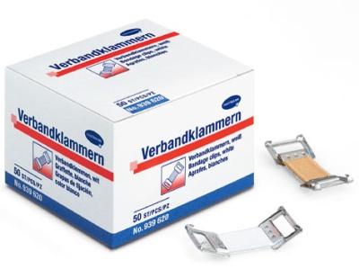 Verbandklammern,Hartmann, weiß, 50 Stk. / Pack.