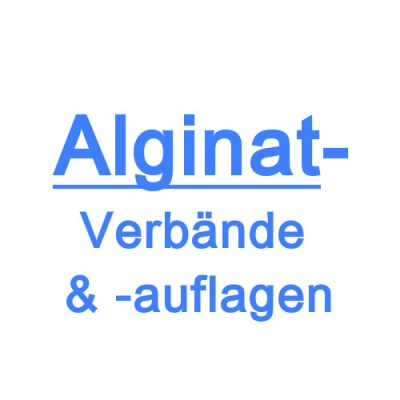 Alginatverbände/-auflagen
