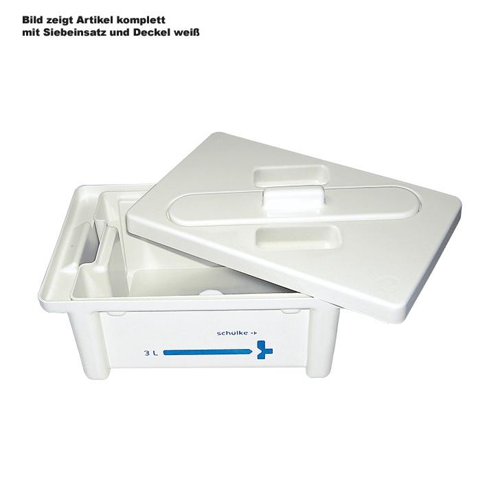 Instrumentenwanne 3 ltr., kompl. mit Deckel, weiß