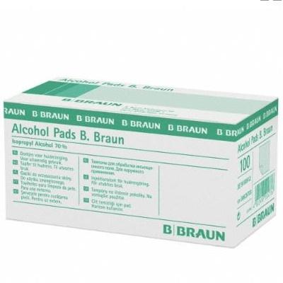 Alcohol pads, Alkoholtupfer, 100 Stk./Pack.