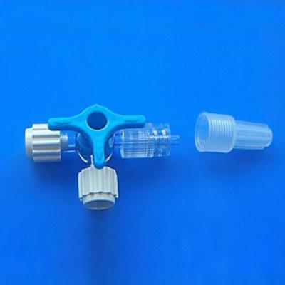 Dreiwegehahn, blau LL,steril