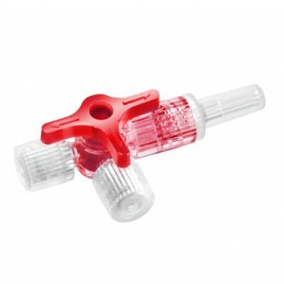 Discofix® Dreiwegehahn, rot, steril, 50 St./Pack.