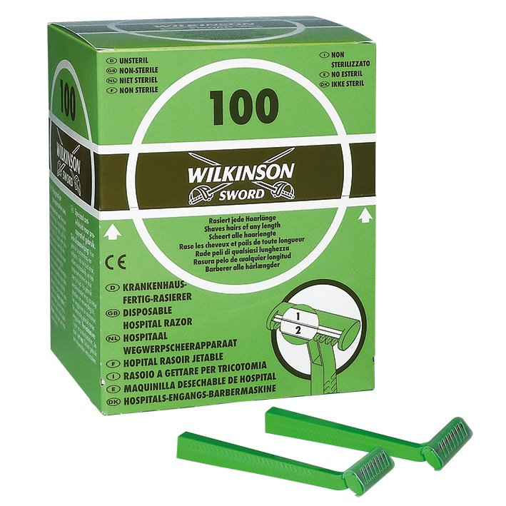 Einmalrasierer Doppelklinge, Wilkinson, 100Stk.