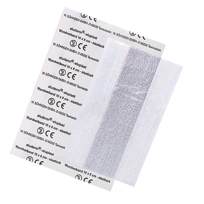 aluderm®-aluplast elastisch 10 x 6 cm, einzeln eingesiegelt