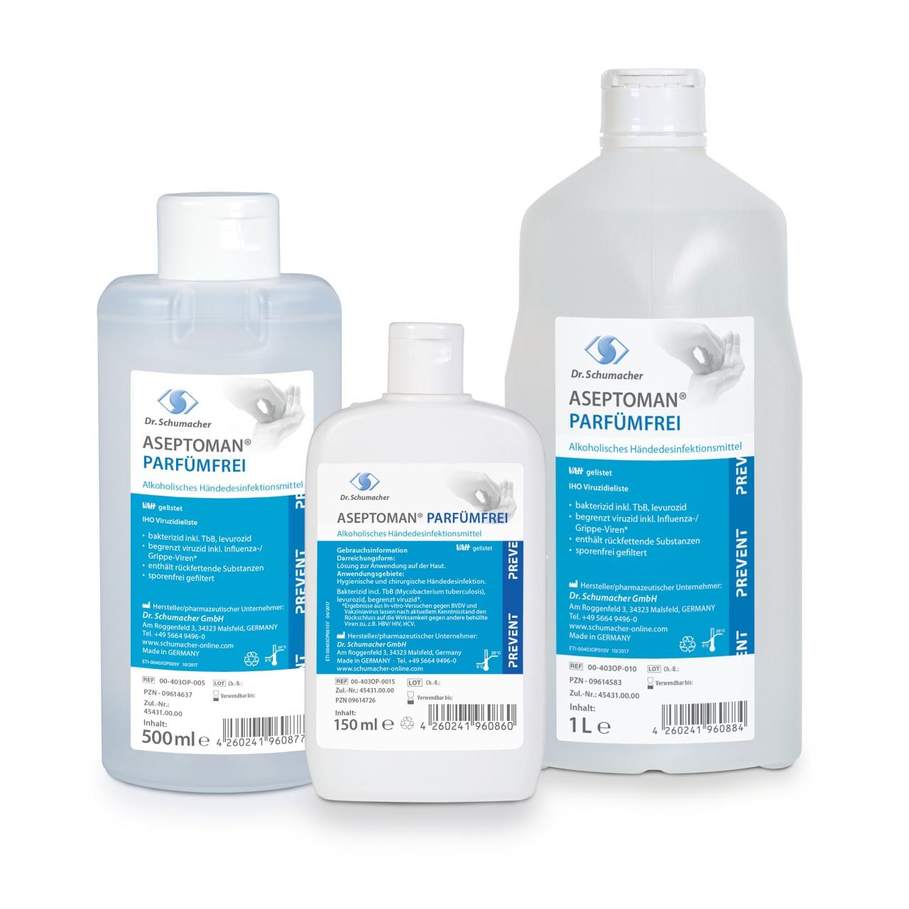 Aseptoman parfümfrei 1 Liter, Spenderflasche