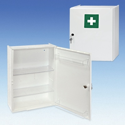 Verbandschrank Kunststoff, DIN 13157/ 13169
