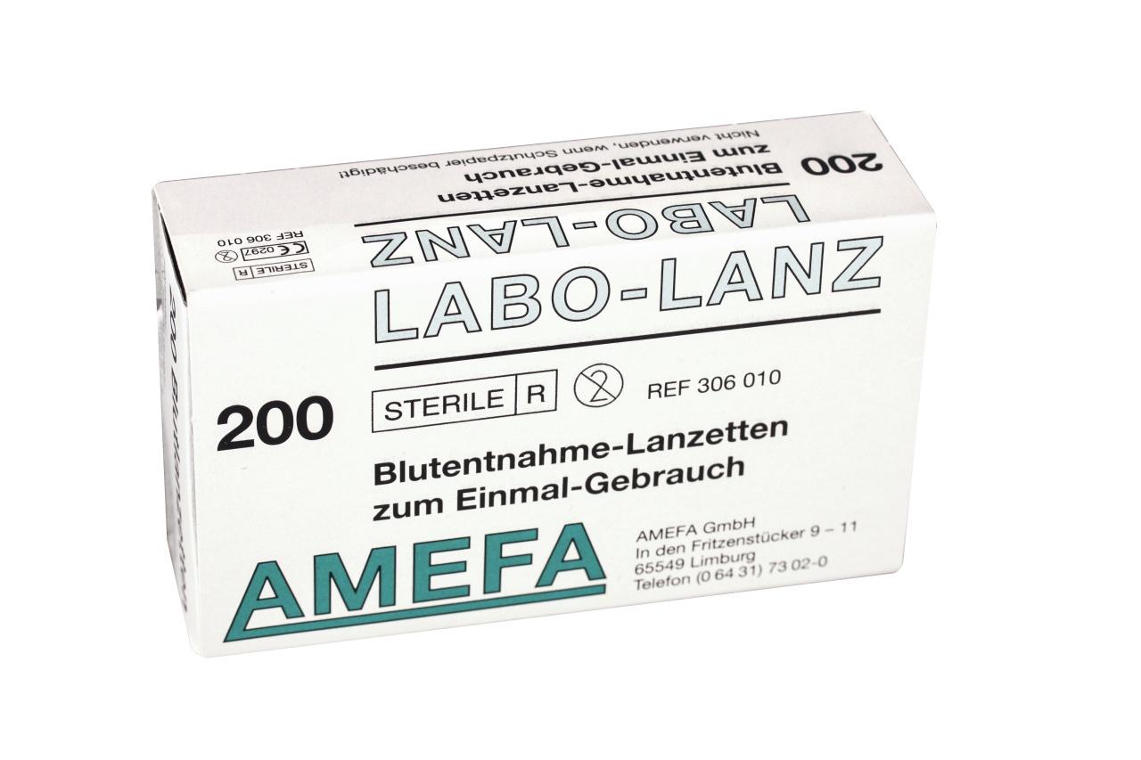 Blutlanzetten Labo-Lanz, steril, 200 Stk./Pack.