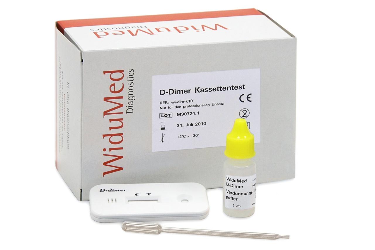 D-Dimer WiduMed, Schnelltest, 5 Stk./Pack.